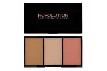 Flush Тройная палитра для лица Makeup Revolution Iconic Pro Blush, Bronze and Brighten