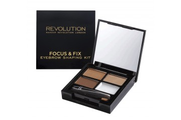 Medium Dark набор для бровей Makeup Revolution Focus & Fix Brow Kit