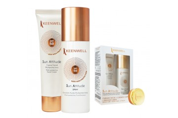 Набор солнцезащитных средств Keenwell Sun set - facial cream SPF50 + fluid body emulsion SPF30
