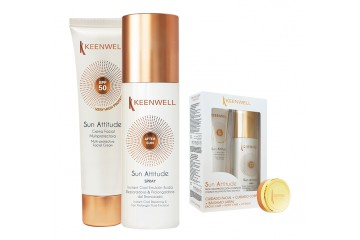 Набор солнцезащитных средств Keenwell Sun set - Multi-Protective facial cream SPF50 + After sun emultion-spray
