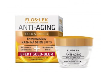 Дневной стимулирующий крем Floslek Anti-Aging Gold & Energy Energizing day cream SPF 15