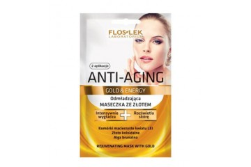 Омолаживающая маска с золотом Floslek Anti-Aging Gold & Energy Rejuvenating mask with gold
