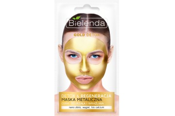 Золотая детокс маска для лица Bielenda Gold Detox Metalic mask