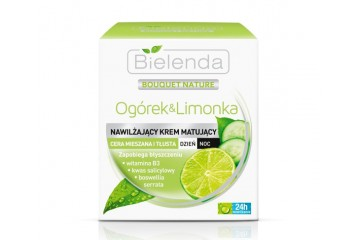 Огурец и Лайм крем для лица Bielenda Cucumber & Lime Moisturizing Mattifying Cream