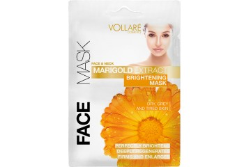 Осветляющая маска для лица с экстрактом календулы Vollare Cosmetics Face & Neck Marigold Extract Brightening Mask