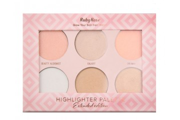 Glow your skin from within палитра хайлайтеров Ruby Rose Highlighter Palette Extended edition HB-7501