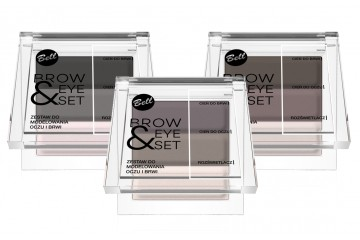 Палетка теней для бровей и век Bell Cosmetics Brow And Eye Modelling Set