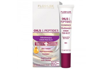 Восстанавливающий крем вокруг глаз Floslek Oils & Peptides Regenerating Eye Cream 60+