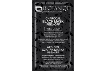 Саше маска-пленка для лица с дубовым углем Biotaniqe Charcoal Black Mask Peel-Off