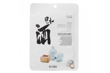 Саке тканевая маска для лица MITOMO Sake Essence Facial Mask