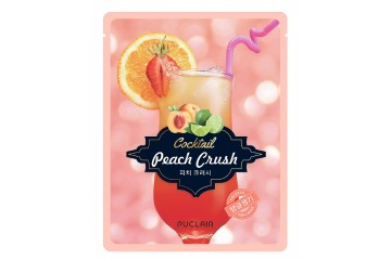 Укрепляющая маска для лица Puclair Peach Crush Cocktail Brightening and Strengthening Face Mask