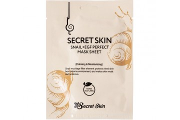 Листовая маска для лица с муцином улитки Secret Skin Snail+EGF Perfect Mask Sheet (SS-36)