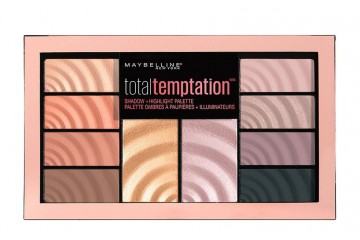 Палетка теней Maybelline Total temptation Shadow + Highlight palette