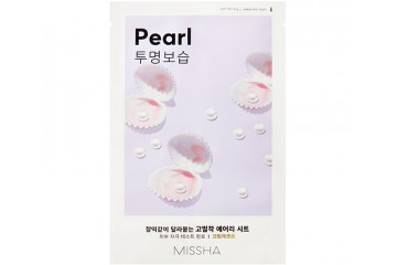Тканевая маска для лица с экстрактом жемчуга Missha Airy Fit Sheet Mask Pearl