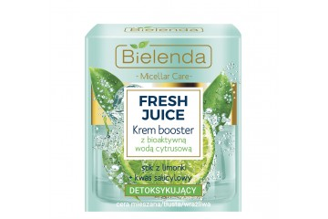 Крем-бустер для детоксикации Лайм Bielenda Fresh Juice Detoxifying Cream booster Lime