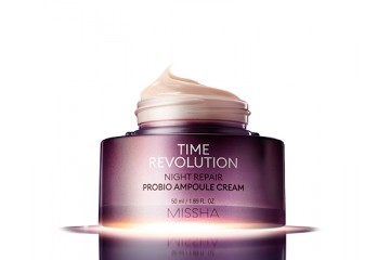 Восстанавливающий ночной крем для лица Missha Time Revolution Night Repair Probio Ampoule Cream