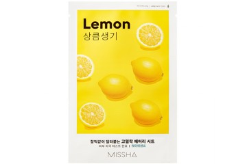 Тканевая маска для лица с экстрактом лимона Missha Airy Fit Sheet Mask Lemon