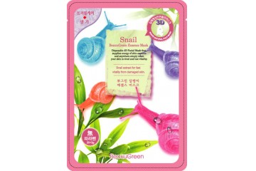 3D маска для лица с экстрактом секреции улитки BeauuGreen Snail Essence Mask