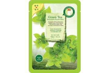 3D маска для лица с зеленым чаем BeauuGreen Green Tea Essence Mask