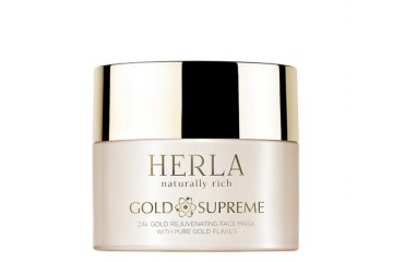 Маска для лица Herla Gold Supreme 24K Gold Rejuvenating Face Mask With Pure Gold Flakes