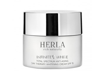Дневной крем для лица Herla Infinite White Total Spectrum Anti-Aging Day Therapy Whitening Cream SPF 15