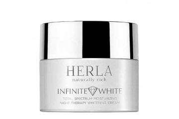 Ночной крем для лица Herla Infinite White Total Spectrum Moisturizing Night Therapy Whitening Cream