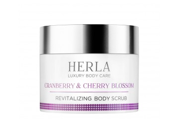Восстанавливающий скраб для тела Herla Luxury Body Care Cranberry & Cherry Blossom Revitalizing Body Scrub