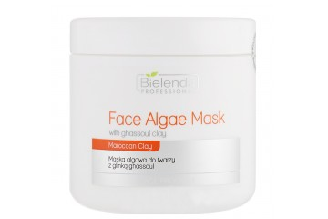 Альгинатная маска для лица с глиной Гассул Bielenda Professional Algae Face Mask with Ghassoul Clay