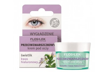 Разглаживающий крем для век с очанкой и гиалуроновой кислотой Floslek Anti-wrinkle eye cream eyebright and hyaluronic acid