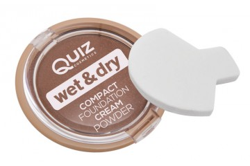 Крем-пудра для лица Quiz Wet and Dry Compact Foundation Cream Powder