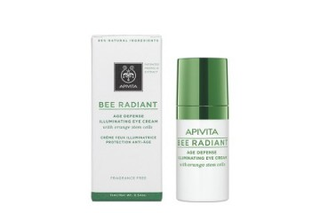 Антивозрастной осветляющий крем для век APIVITA Bee Radiant Age Defense Illuminating Eye Cream with orange stem cells